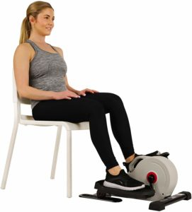 Sunny Health & Fitness Fully Assembled Magnetic Under Desk Elliptical